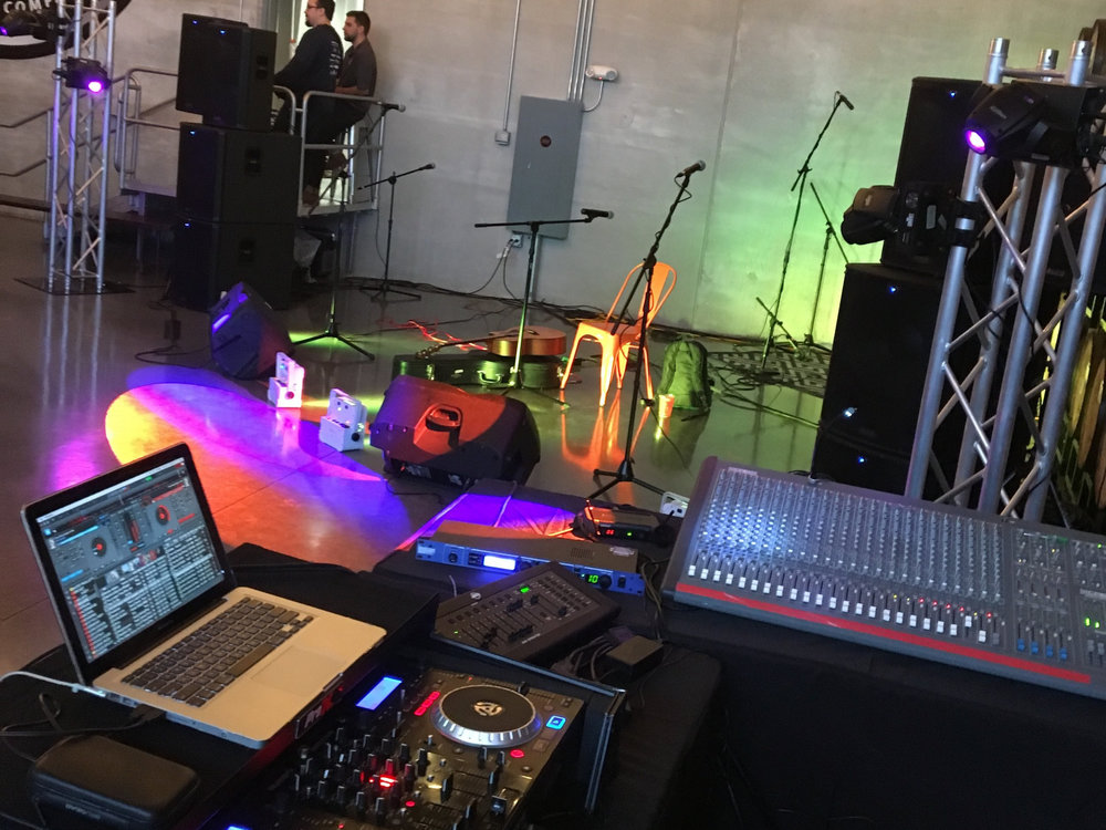 audio system for large events